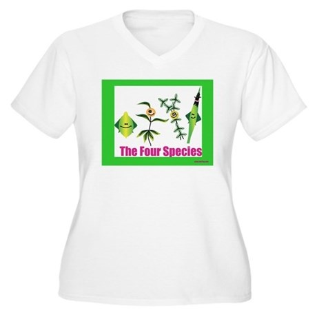 The Four Species Sukkot Women's Plus Size V-Neck T