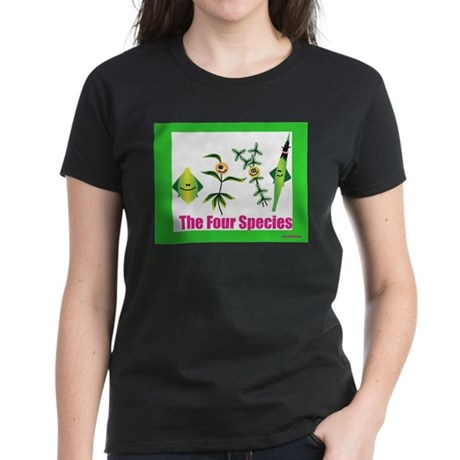 The Four Species Sukkot Women's Dark T-Shirt