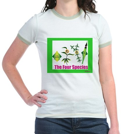 The Four Species Sukkot Jr. Ringer T-Shirt