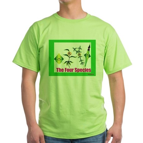 The Four Species Sukkot Green T-Shirt