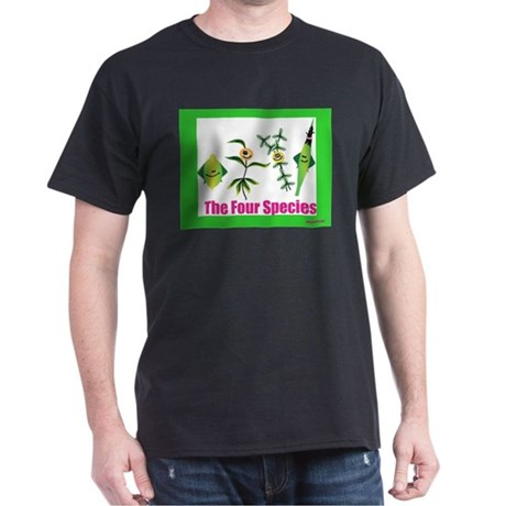The Four Species Sukkot Dark T-Shirt