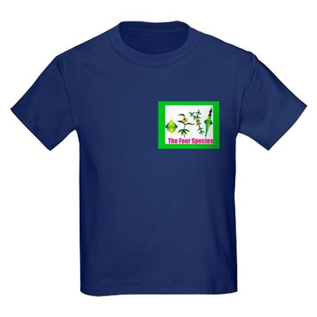 The Four Species Sukkot Kids Dark T-Shirt