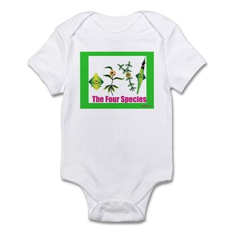 The Four Species Sukkot Infant Bodysuit