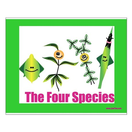 The Four Species Sukkot Small Poster