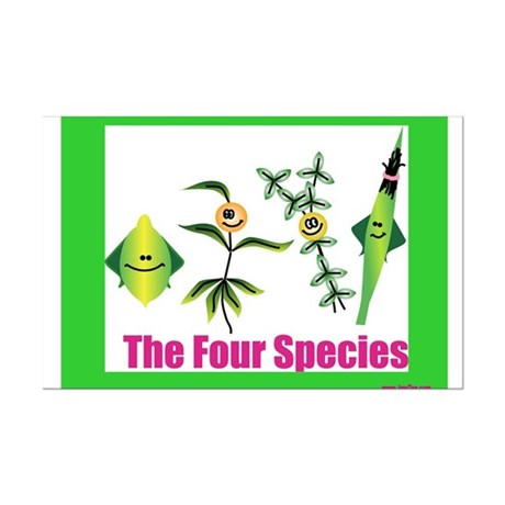 The Four Species Sukkot Mini Poster Print