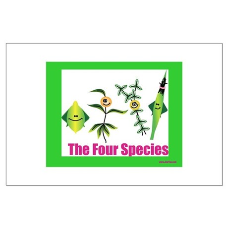 The Four Species Sukkot Large Poster