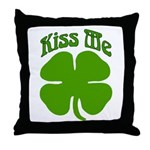 Kiss Me I'm Irish Throw Pillow
