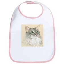 Norwegian Forest Cat Painting Bib