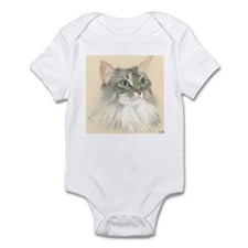 Norwegian Forest Cat Painting Infant Bodysuit