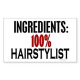 Ingredients: Hairstylist Rectangle Decal