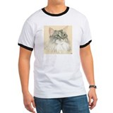 Norwegian Forest Cat Painting T