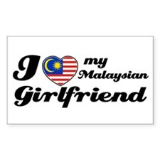 I love my Malaysian Girlfriend Sticker (Rectangula