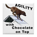 Chocolate Lab Agility Tile Coaster
