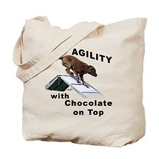 Chocolate Lab Agility Tote Bag