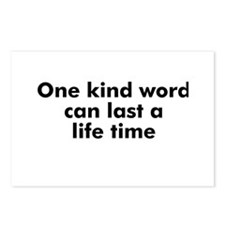 One kind word can last a life Postcards (Package o