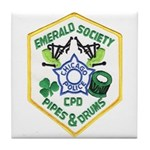 Chicago PD Pipes & Drums Tile Coaster