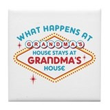 Las Vegas Stays At Grandma's Tile Coaster