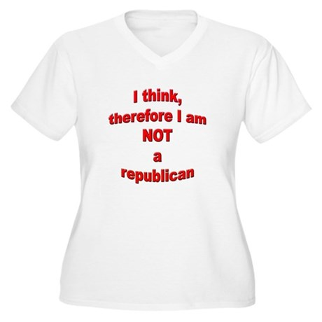 Not a Republican Women's Plus Size V-Neck T-Shirt
