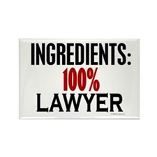 Ingredients: Lawyer Rectangle Magnet