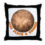 Give Pluto a Chance Throw Pillow