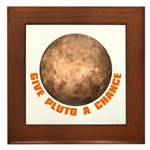 Give Pluto a Chance Framed Tile