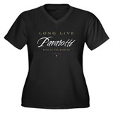 Pavarotti Women's Plus Size V-Neck Dark T-Shirt