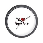 I (heart) Theatre Wall Clock