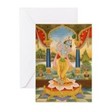 Krishna On Lotus Blossom Greeting Cards (Pk of 20)