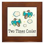 Cooler Twin Boys Airplane Framed Tile