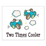 Cooler Twin Boys Airplane Small Poster