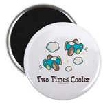 Cooler Twin Boys Airplane Magnet