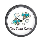Cooler Twin Boys Airplane Wall Clock