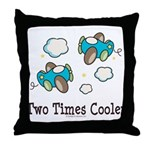 Cooler Twin Boys Airplane Throw Pillow