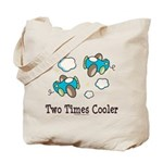 Cooler Twin Boys Airplane Tote Bag