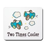 Cooler Twin Boys Airplane Mousepad
