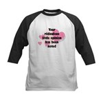 Ridiculous Opinion Quote Kids Baseball Jersey