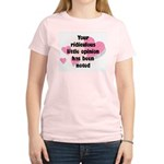 Ridiculous Opinion Quote Women's Light T-Shirt