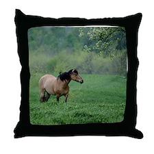 Dun Horse Throw Pillow