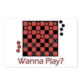 Wanna Play Checkers? Postcards (Package of 8)