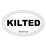 """Kilted"" Oval Stickers"