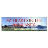 &quot;My Heart's In the Highlands&quot; bumper sticker
