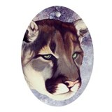 `Miss Mountain Lion' Oval Ornament