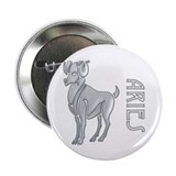 """ Silver Aries Design "" Button"