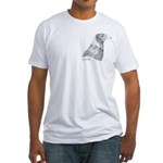 Wedge Tailed Eagle Fine Fitted T-Shirt