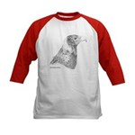 Wedge Tailed Eagle Fine Kids Baseball Jersey