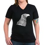 Wedge Tailed Eagle Fine Women's V-Neck Dark T-Shir