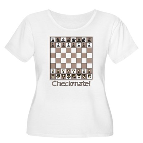 Checkmate! Women's Plus Size Scoop Neck T-Shirt