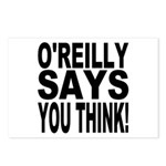 O'REILLY SAYS YOU THINK! Postcards (Package of 8)