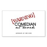 Warning: Comedian Rectangle Decal