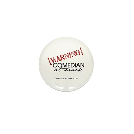Warning: Comedian Mini Button (10 pack)